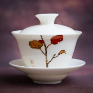 Porcelain Gaiwan #32, 130 ml.
