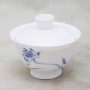 Porcelain Gaiwan #45, hand-painted, 180 ml.
