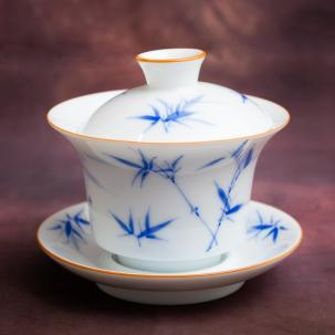 Porcelain Gaiwan #31, 135 ml., hand painted