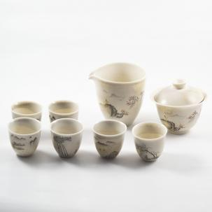 Ceramic Tea set #10, Jingdezhen