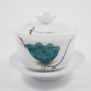 Porcelain Gaiwan #29, 130 ml.
