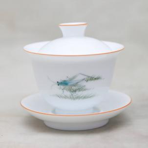 Porcelain Gaiwan #42, hand-painted, 150 ml.